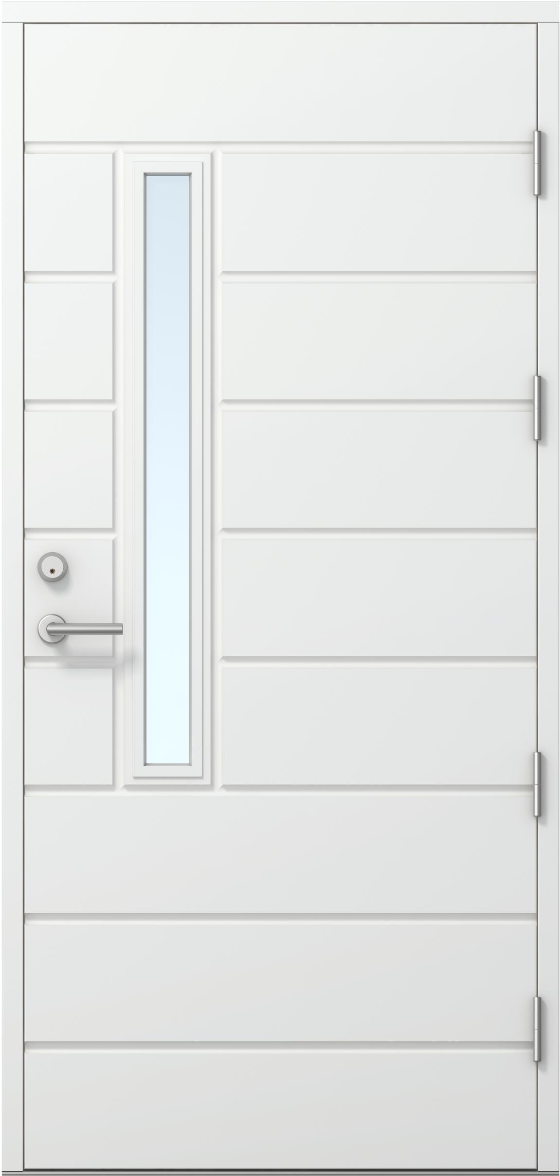 Ulko ovi ERCOMA2 valkoinen Thermo ovi  Ovet  Ulko ovet  Kaskipuu ulko ovet